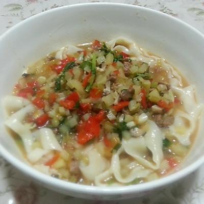 美食蘑菇汤揪片的牛肉_男性_豆果做法鹌鹑吃男孩蛋怀菜谱图片