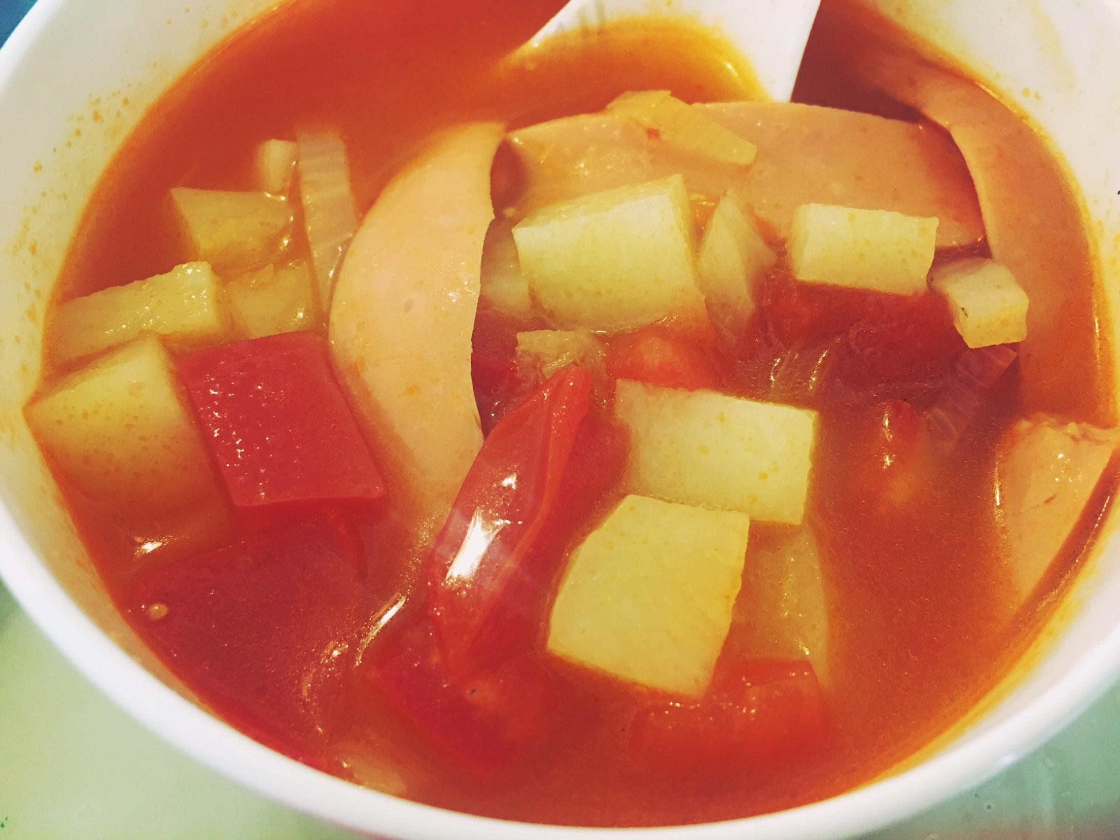 冻番茄汤手绘