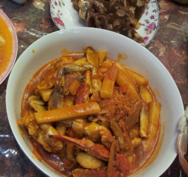 韩式螃蟹炒辣条