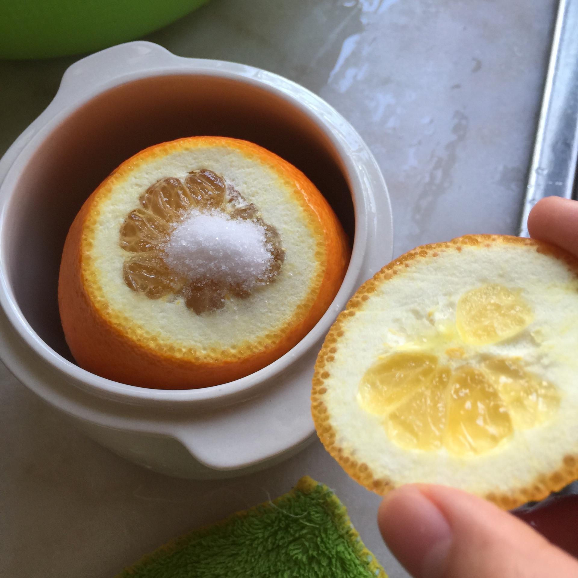 盐蒸橙子(咳嗽杀手)的做法步骤