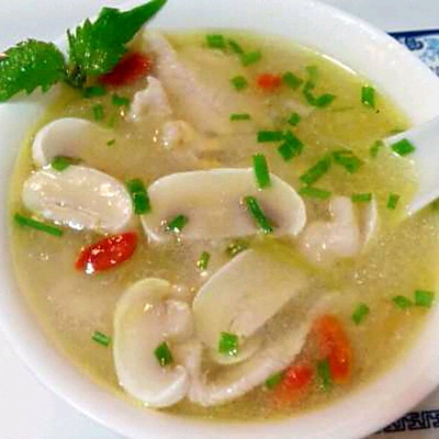 蘑菇滑肉汤的海带_做法_豆果美食炖菜谱的做法图片