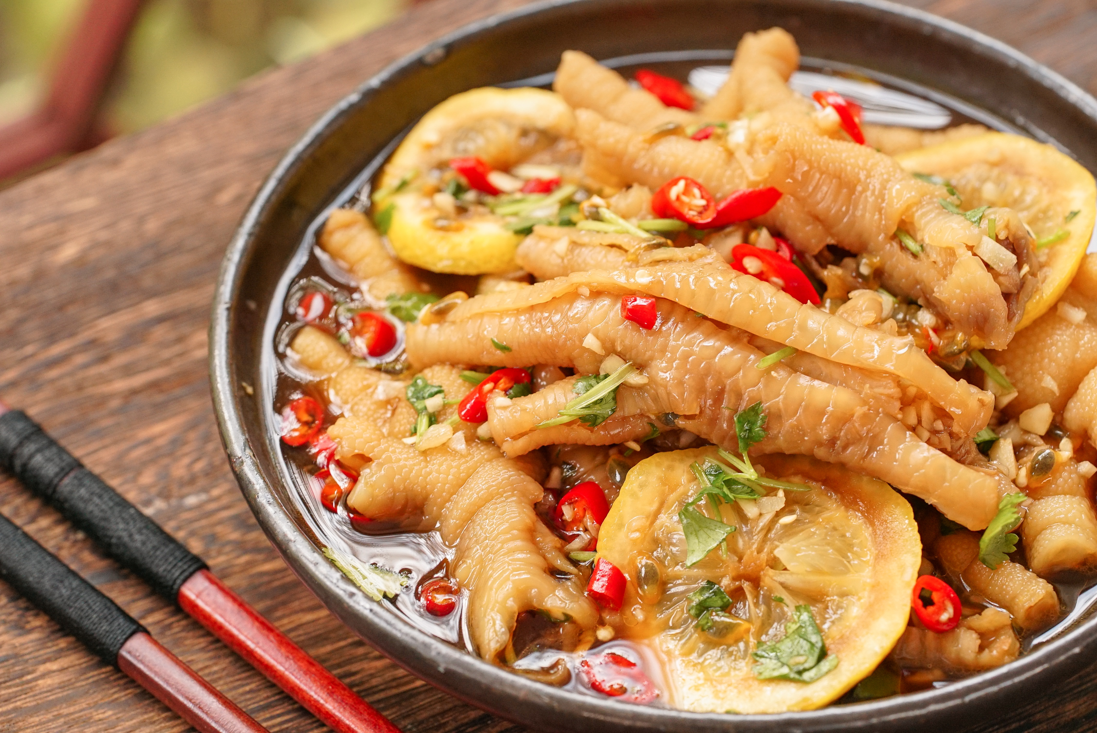 菜谱记 酸辣无骨凤爪的美食_做法_豆果日食吃鸭蛋可以清火吗图片