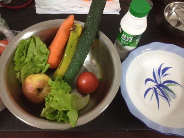 瘦身水果蔬菜沙拉