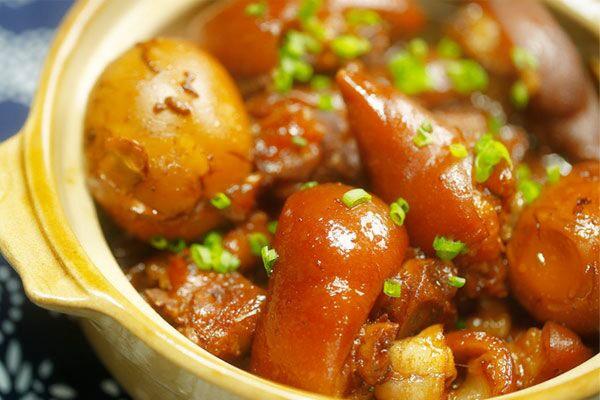 姜醋猪脚蛋【微体兔菜谱】的做法_【图解】姜醋猪脚蛋