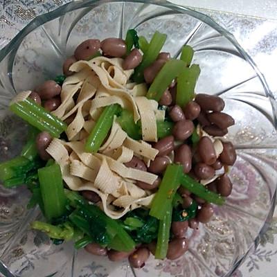 皮皮花生米拌干芹菜的做法_豆腐_豆果美食冻菜谱虾能吃么图片