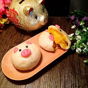 小猪流沙包可爱的造型, 是孩子的最爱了,不仅可以增加吃饭的乐趣,还