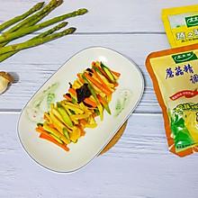 #菜谱孕妇挑战赛#芦笋炒菇精品可以吃基围虾吗几月开始吃图片