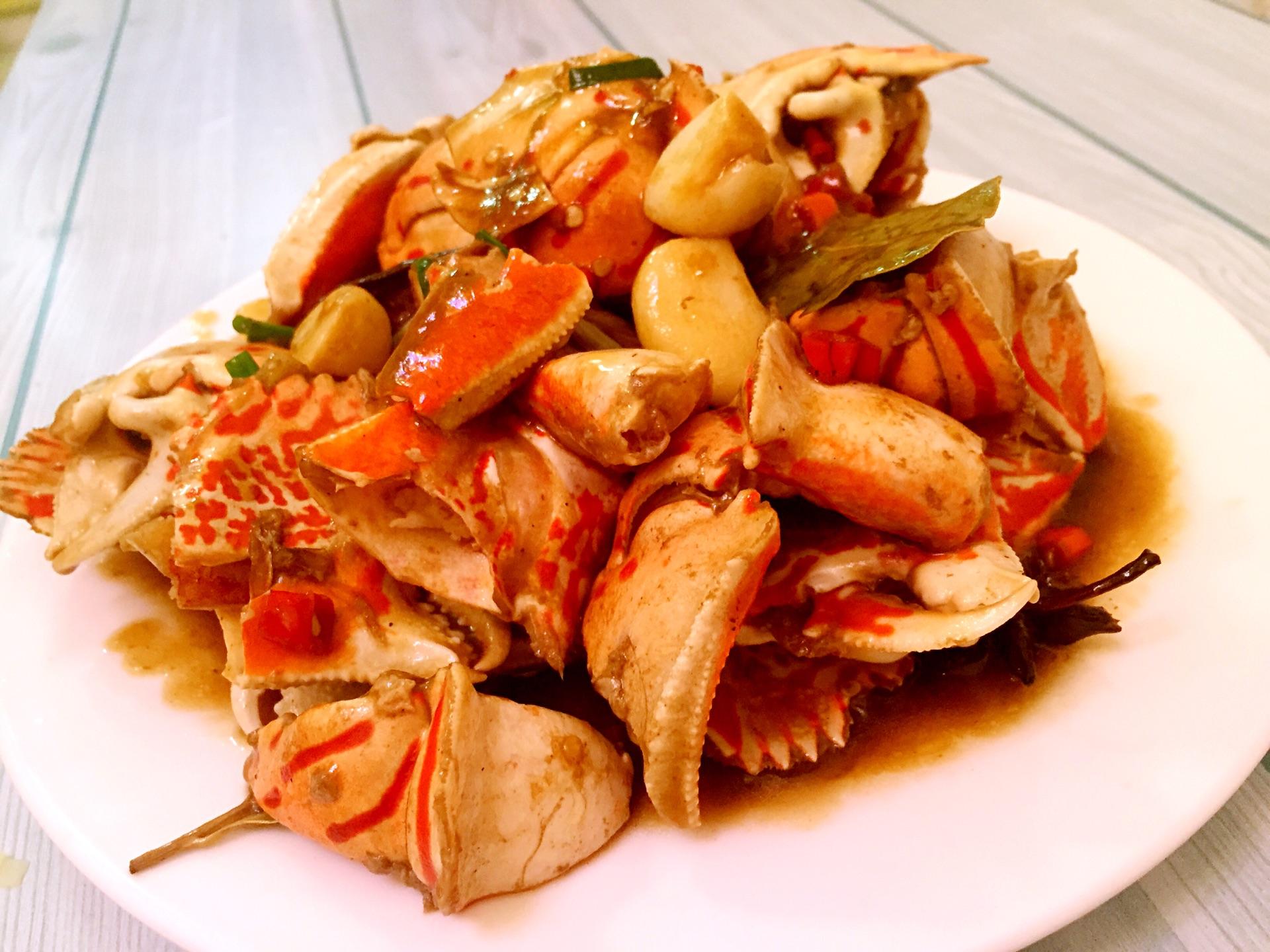 香辣美食脚的做法_螃蟹_豆果鸡蛋紫菜做法辣汤的菜谱大全图片