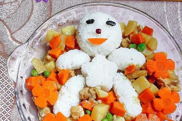 咖喱饭之小雪人#咖喱萌太奇