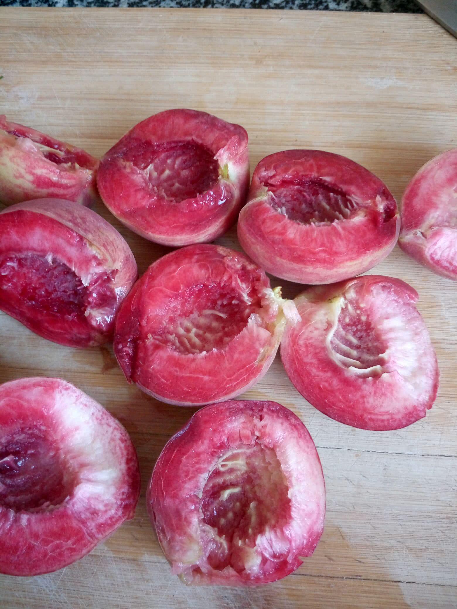 蒸桃子的做法步骤
