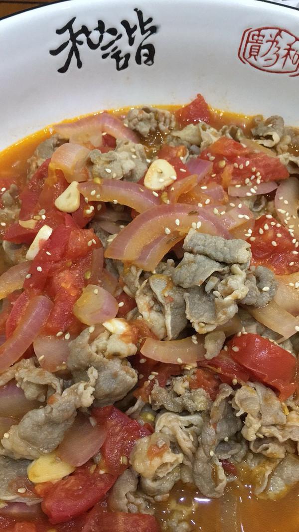 西红柿酸汤肥牛的黄豆-美食-豆果菜谱v肥牛版蹄髈炖做法图片