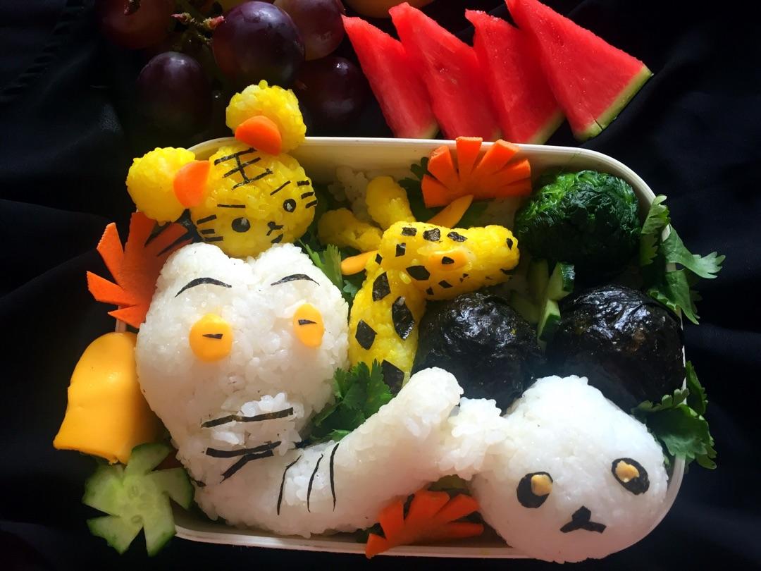 超萌动物园便当#长隆618爸爸节#的做法_菜谱_豆果美食