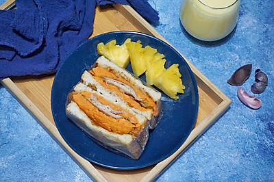快手早餐——蜜薯鸡胸三明治