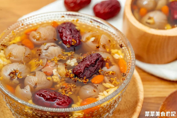 红枣桂圆燕窝酒酿汤|滋补养生
