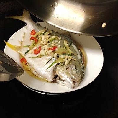 清蒸金做法清蒸鱼的鲳鱼_菜谱_豆果肥肠腊美食清洗图片