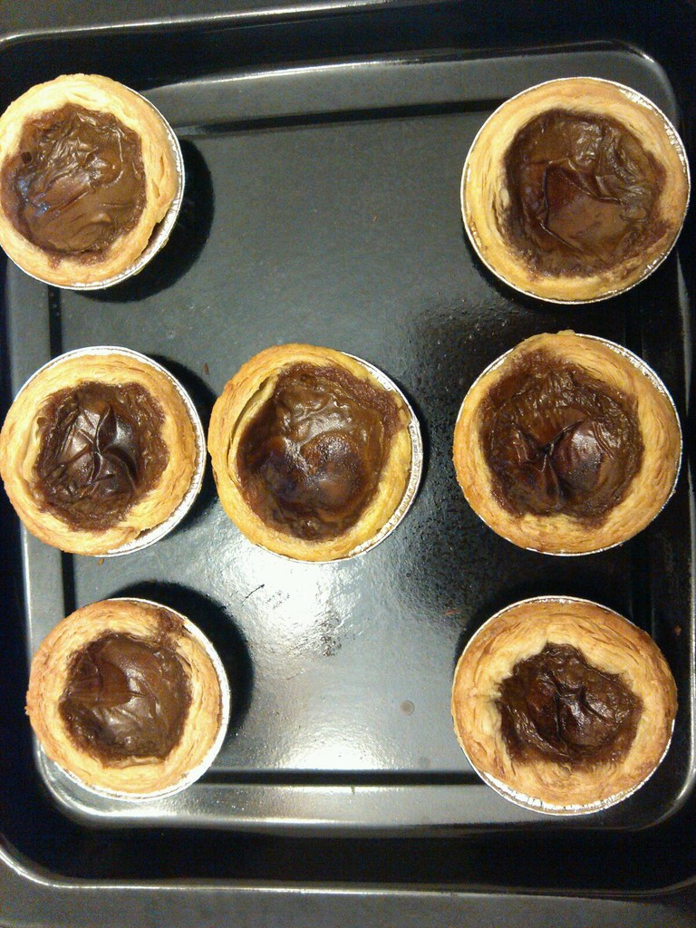 卡布奇诺蛋挞的做法步骤 3.