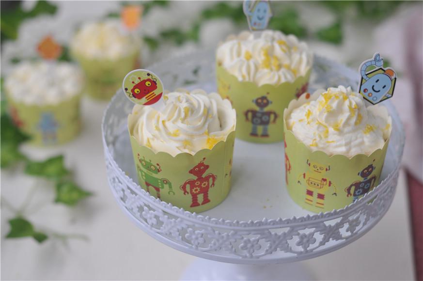 小清新柠檬纸杯蛋糕#膳魔师夏日魔法甜品