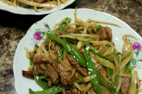 家常菜—子姜肉丝图片