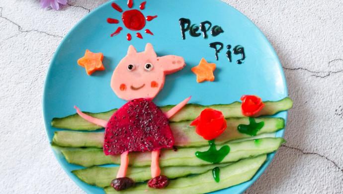 精品菜谱挑战赛#可爱小猪佩奇水果拼盘的做法_菜谱
