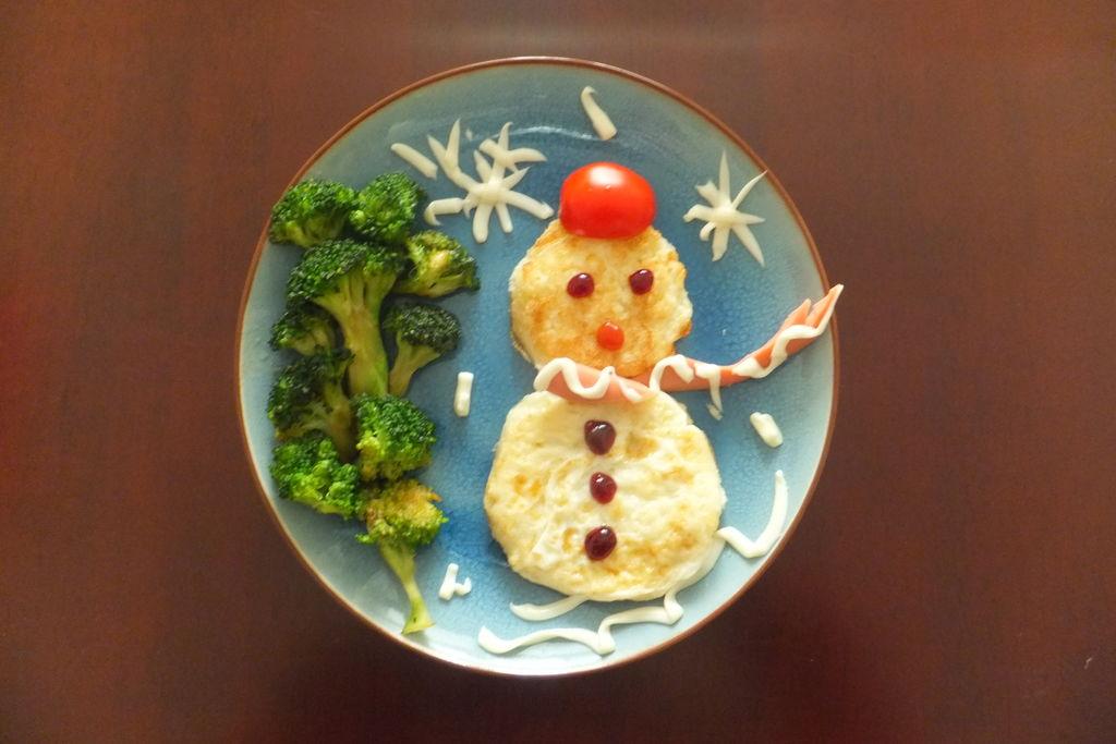 雪人儿童早餐