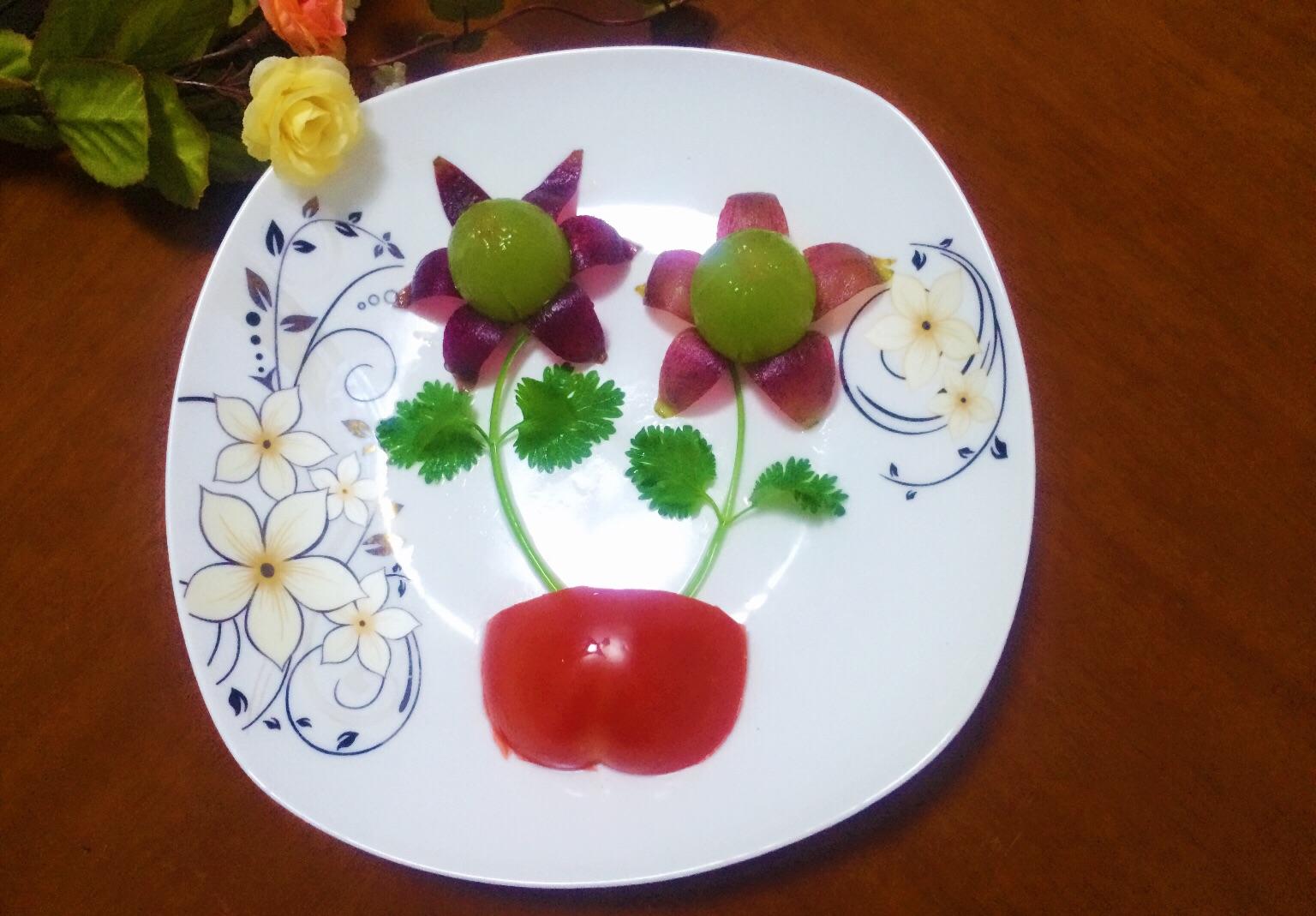 葡萄水果拼盘