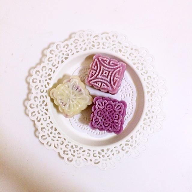 冰皮月饼(紫薯红豆馅)的做法图解7