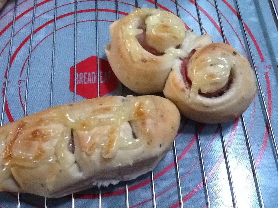 培根面包卷的做法图解3