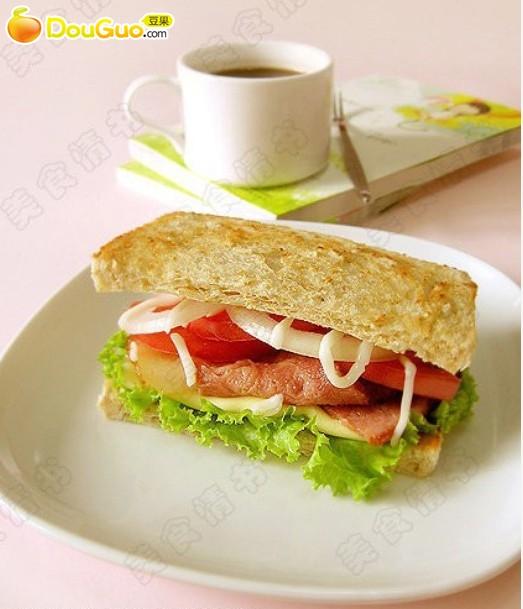 l.t.:三明治的做法步骤 1.
