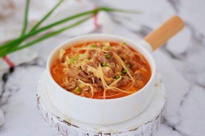 #网红美食我来做#番茄金针菇肥牛