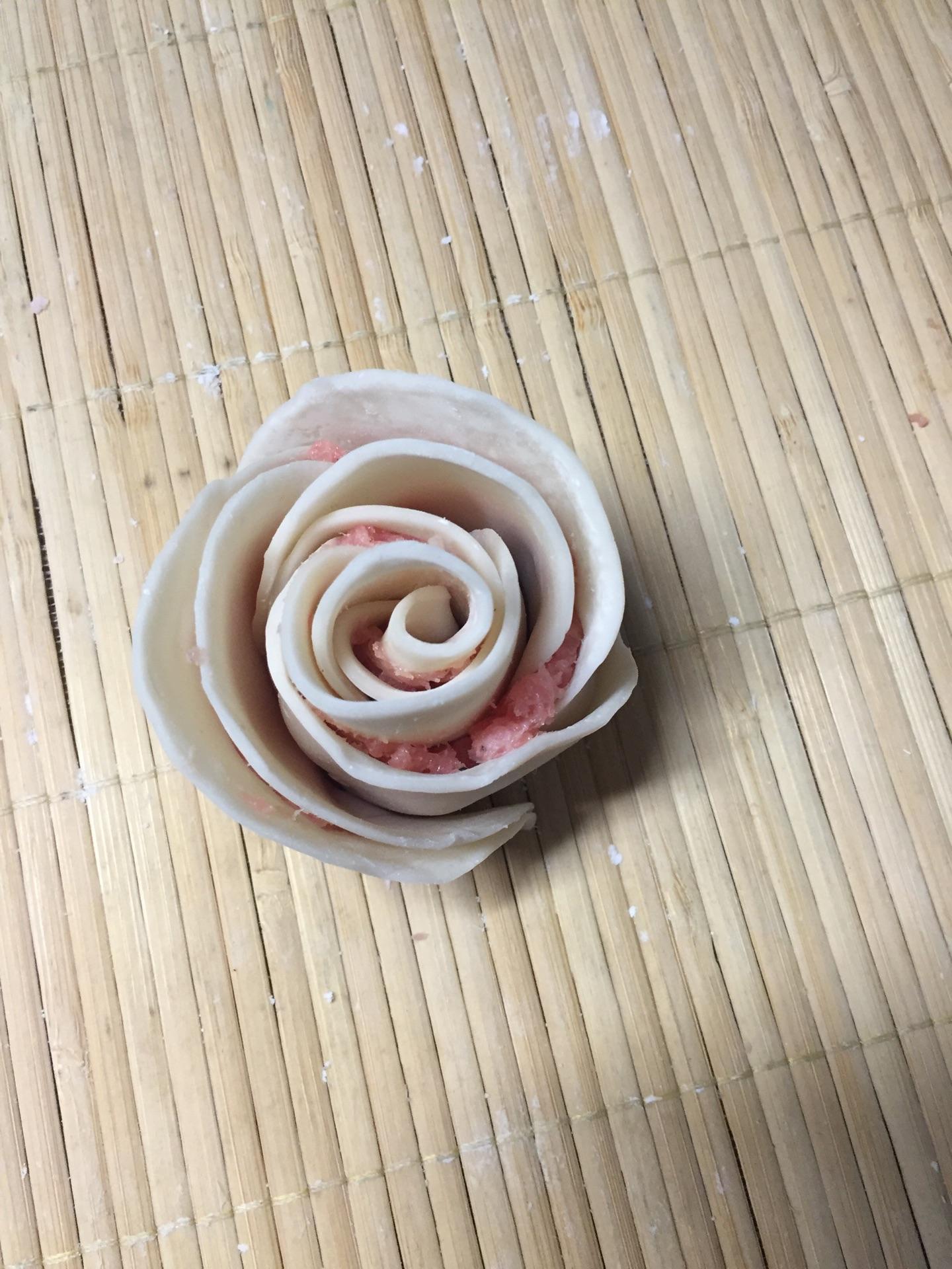 玫瑰花饺子的做法图解3