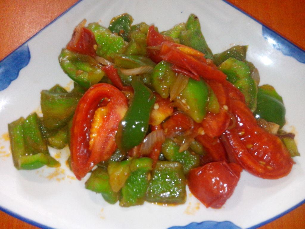年糕炒西红柿的窍门图解9青椒炒鸡蛋简单又好吃做法图片