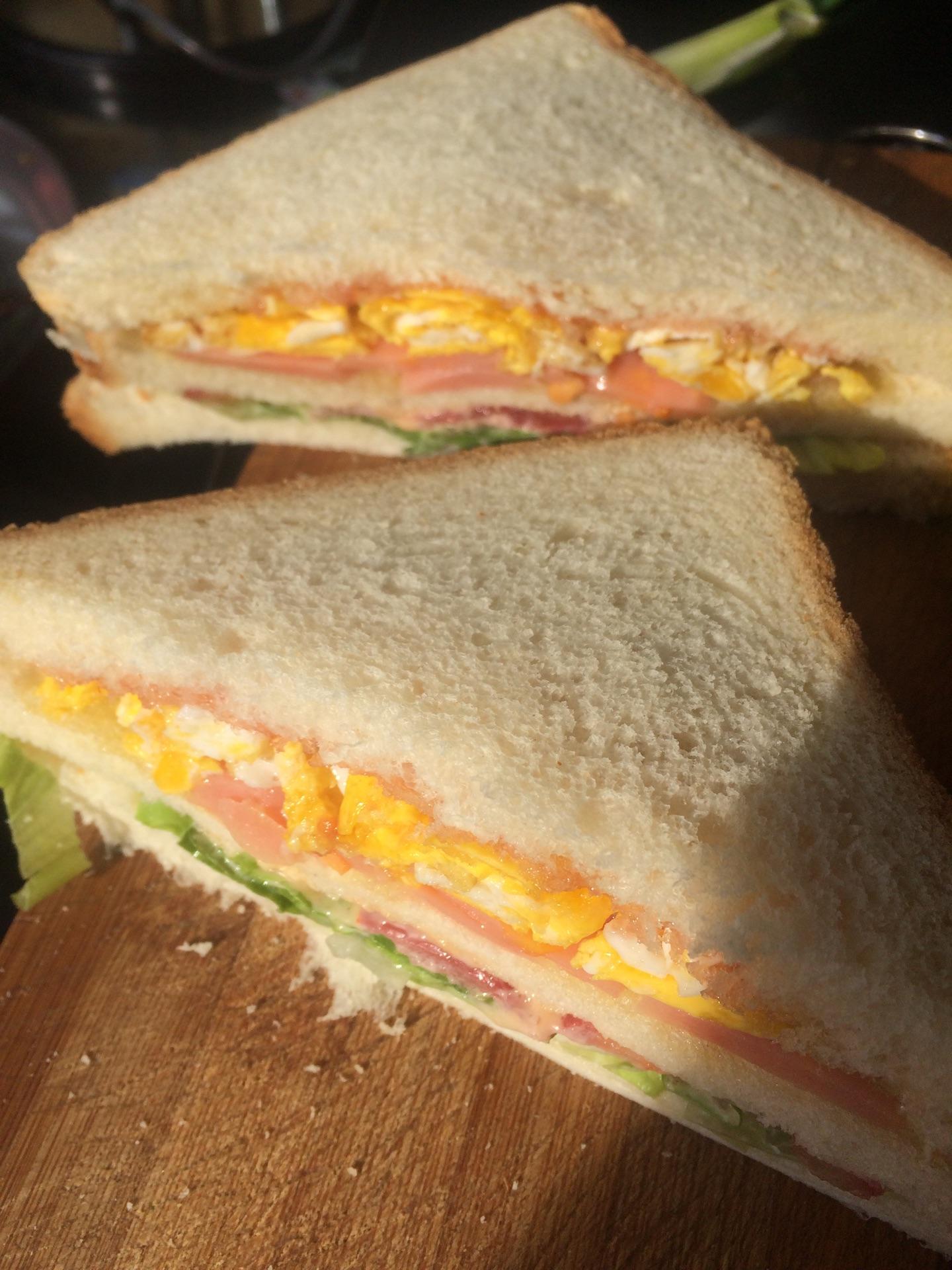 三明治的做法图解4