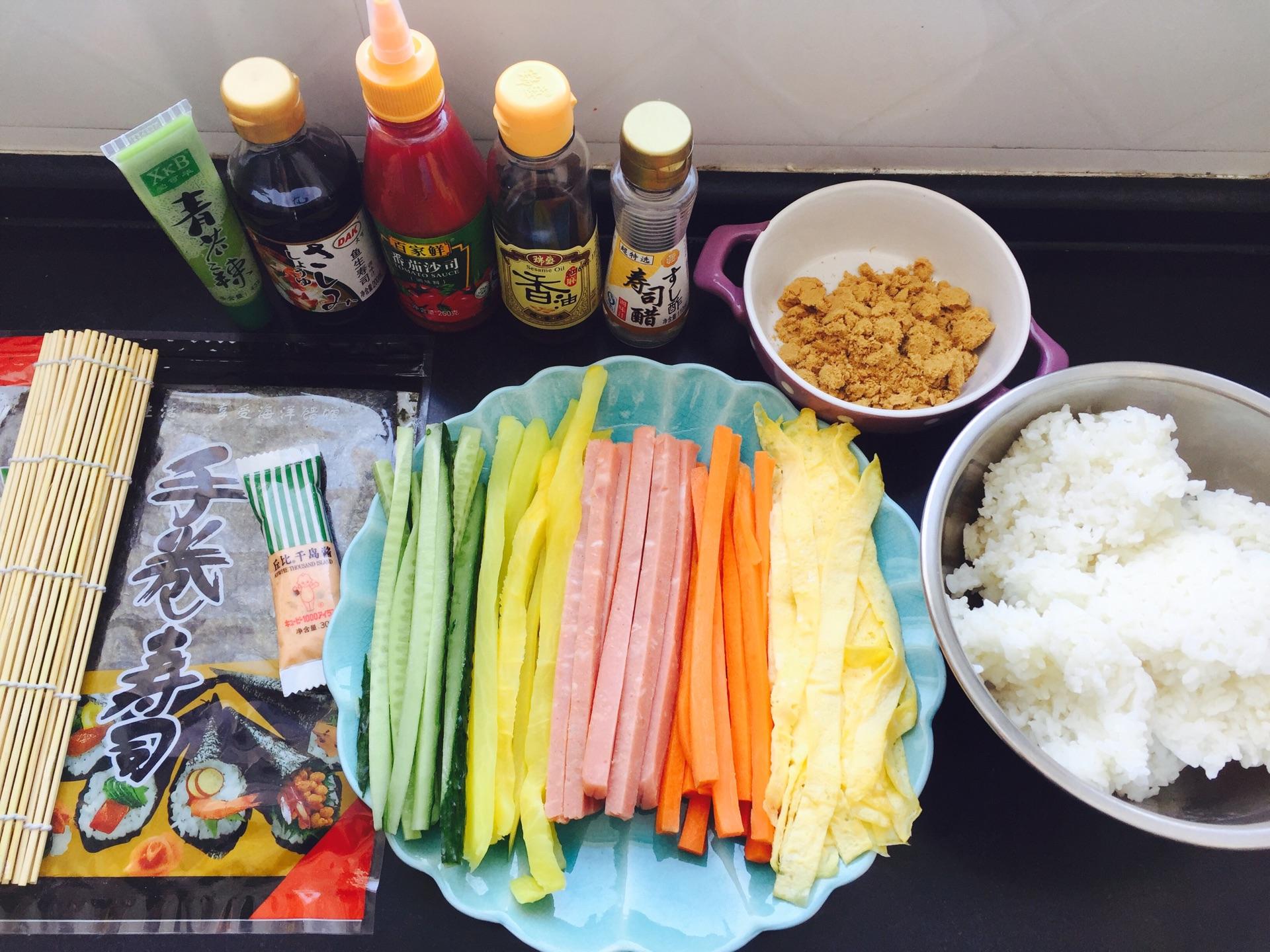紫菜包饭/手卷寿司的做法图解1