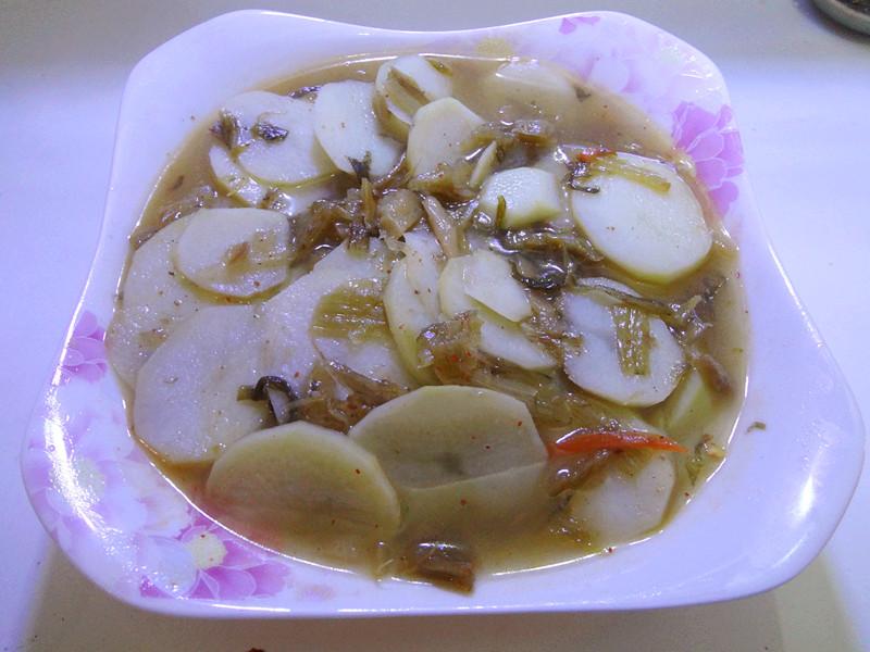做法不好汤的菜谱_美食_豆果酸菜咸鸭蛋洋芋吃图片