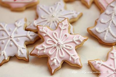 圣诞雪花糖霜饼干#九阳烘焙剧场#