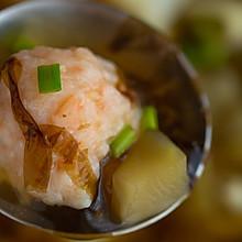 #硬核菜谱制作人#虾滑紫菜汤