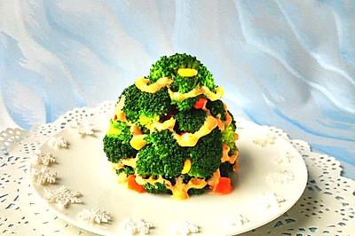 圣诞树蔬菜沙拉