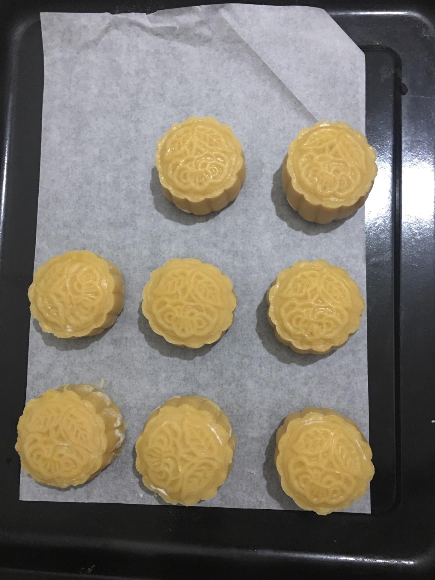 南瓜蛋黄月饼的做法图解3