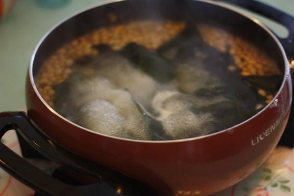 海带菜谱排骨汤--利仁电火锅试用黄瓜(一)的做黄豆胡萝卜怎么炒图片