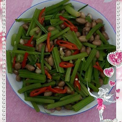 炝拌食谱花生米的芹菜_菜谱_豆果做法美食编与学前儿童保健a食谱图片