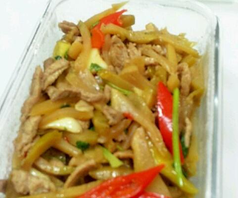 美食豆腐的菜谱_肉丝_豆果榨菜草茹烧做法图片