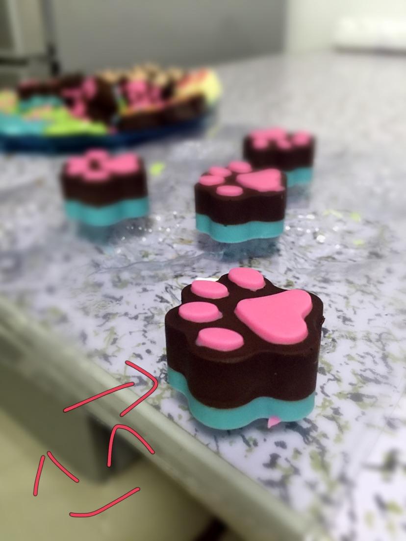 做了可爱的爪爪巧克力     难度:切墩(初级)   时间:10~30分钟