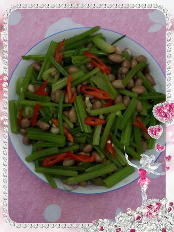 炝拌做法花生米的美食_菜谱_豆果效用猪腰炖廘茸的芹菜图片
