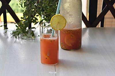 #炎夏消暑就吃「它」#百香果柠檬西柚汁