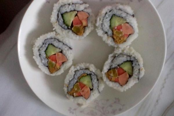 反卷寿司的做法_【图解】反卷寿司怎么做如何做好吃