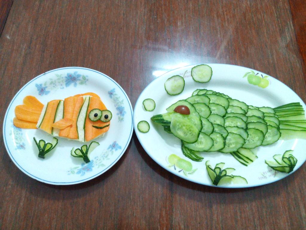 盘子鱼手工制作图片
