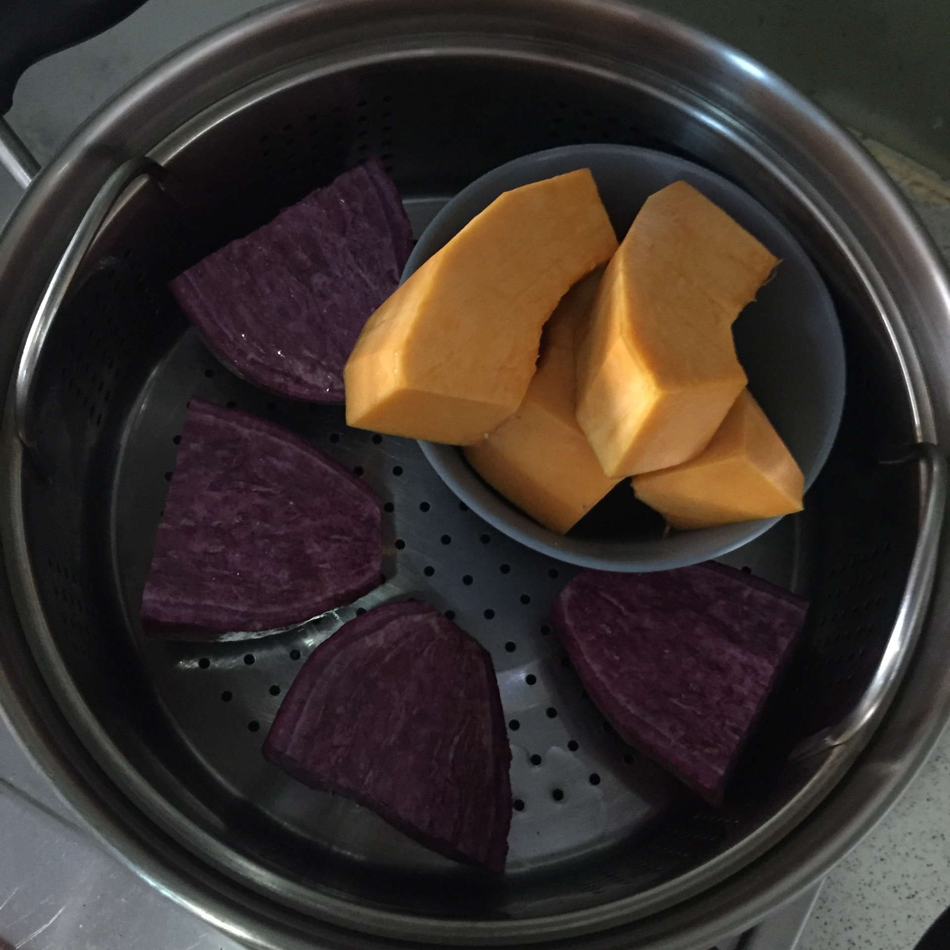 花式紫薯馒头(具体和面方法)的做法步骤