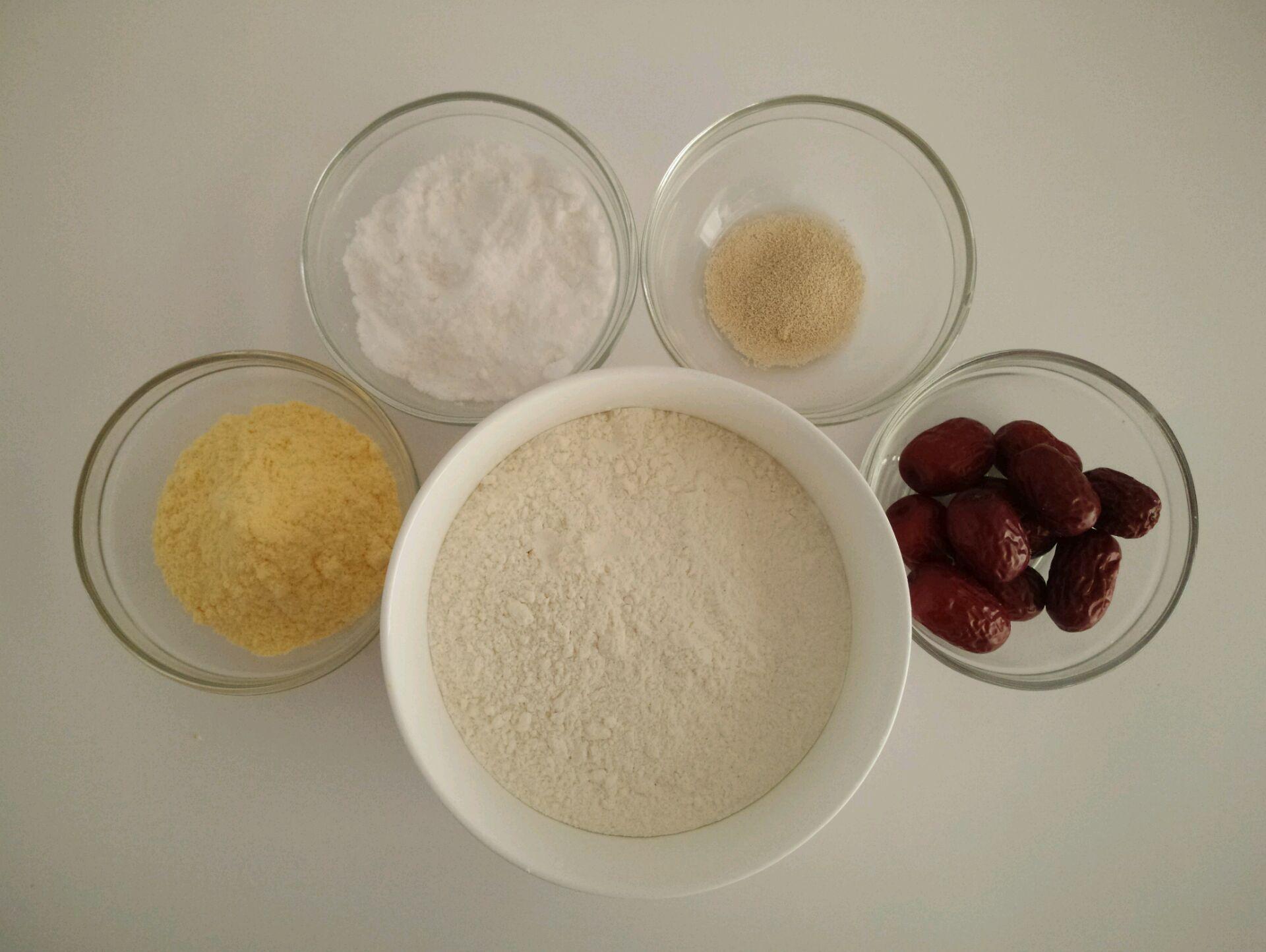 红枣玉米发糕的做法步骤