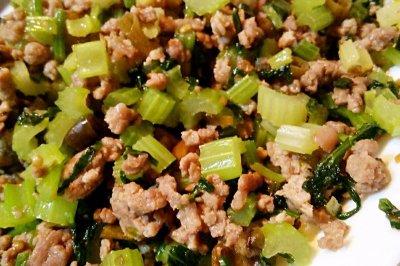 重庆江湖菜之泡椒芹菜牛肉糜