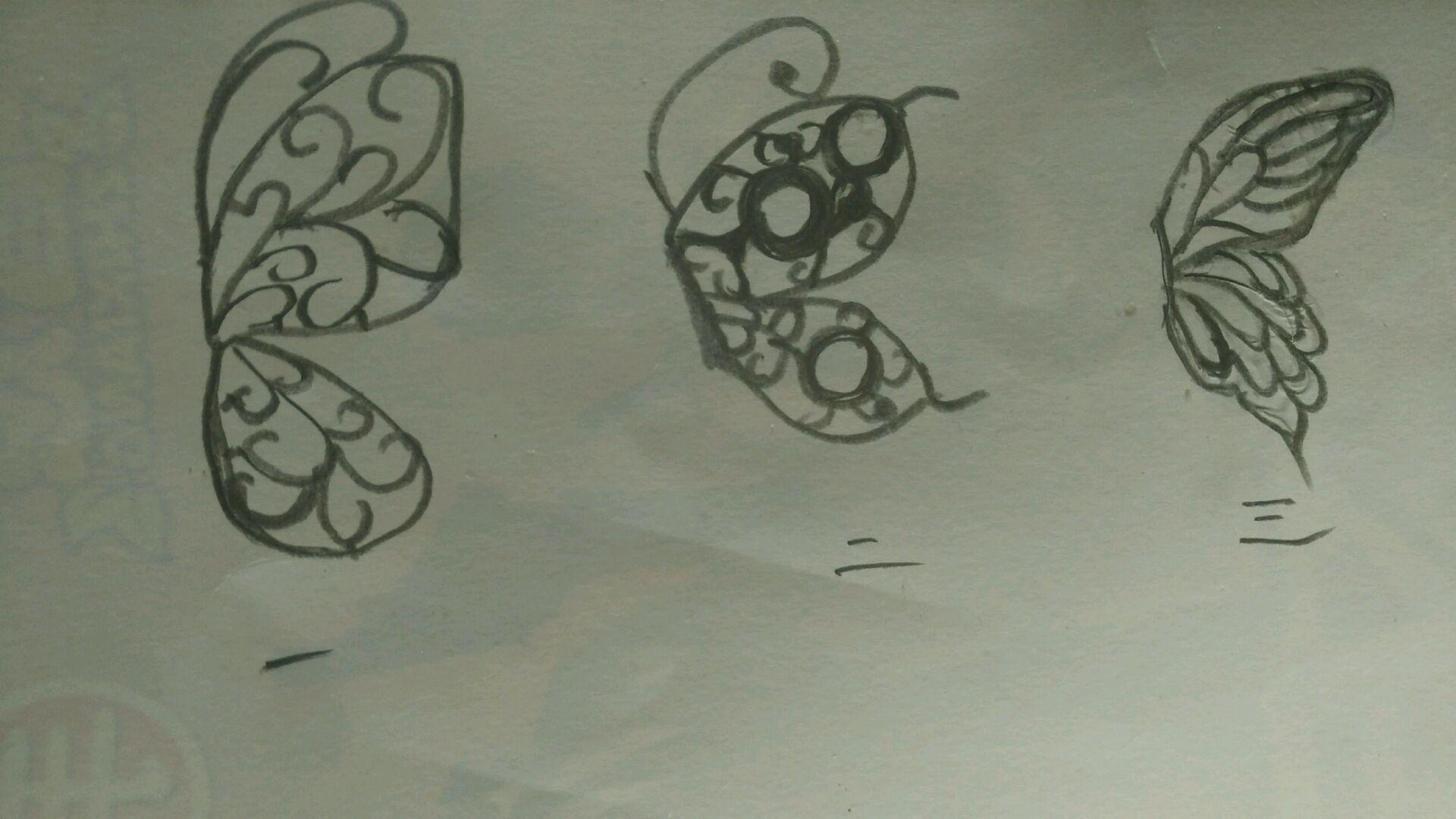 巧克力镂空蝴蝶